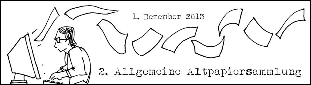 Owleys Banner für die 2. Allgemeine Altpapiersammlung (AAPS)