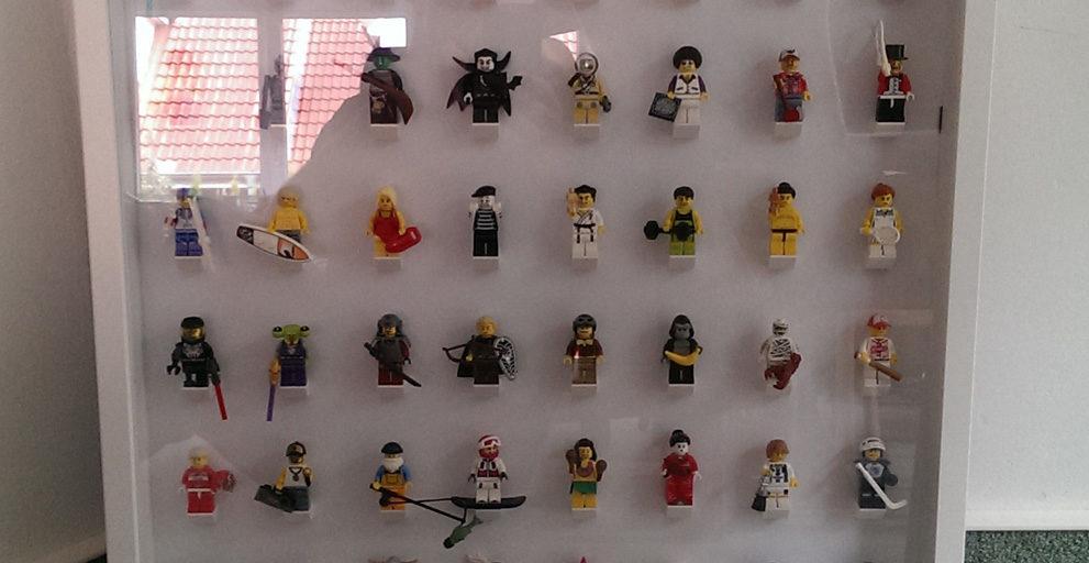 mein selbstgebautes ribba lego minifiguren display. Black Bedroom Furniture Sets. Home Design Ideas
