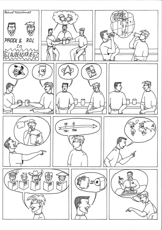 """Comic: """"Glaubenskrieg"""" Seite 1 von Roland Triankowski"""